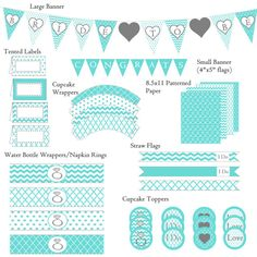 Bridal Shower Decorations  Tiffany Blue  by EventDayDesigns, $15.00