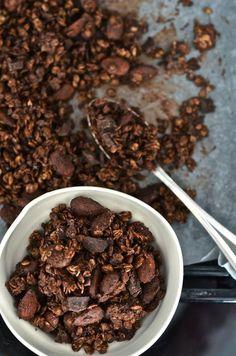 De geneugten van Anne & Alex: dubbele granola-chocolade en amandelen (v) - Breakfast Smoothies, Healthy Smoothies, Breakfast Recipes, Vegan Breakfast, Vegan Kitchen, Greens Recipe, Healthy Cooking, Healthy Food, Food Inspiration