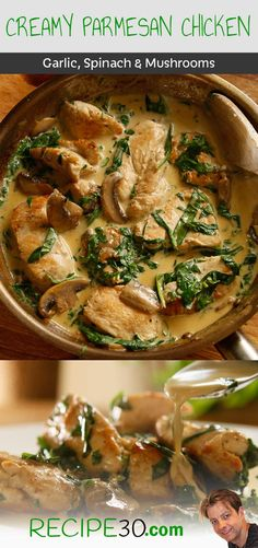 What makes this recipe a winner, is the fact that it requires simple ingredients and yet, you receive an incredible return on flavour for little effort. The Parmesan cheese melts into the sauce with the chicken juices and the buttery glazed mushrooms. Serve it with pasta and you'll have a truly awesome chicken meal.