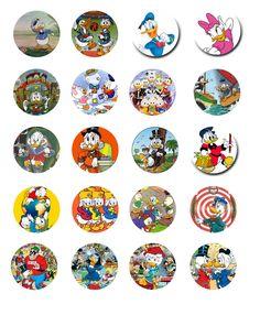 Free Bottle Cap Images: Donald Duck Family - Bottle Cap