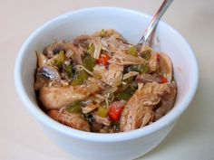 This rich étouffée/gumbo/fricassee hybrid is easy to prepare, and is even better the next day. Browned chicken is simmered in a rich gravy based on Cajun hallmarks such as dark roux and trinity. Perfect served over hot rice with a few splashes of Crystal hot sauce!