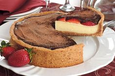torta trufada de morango