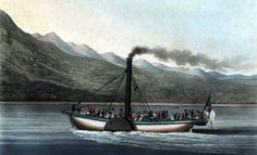 The Dumbarton Steamboat Company was one of the earliest steamboat companies in the world and in its different reincarnations lasted for almost a century. The Loch, Loch Lomond, Steamboats, Steamers, Scotland, World, Image, Art, Kunst