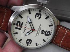 Huge Discontinued NAUTICA A12563G Screw-down crown 100m waterproof watch NEW