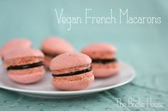The Brellis House: Vegan Raspberry French Macarons with Chocolate Ganache