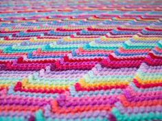 """Free pattern """"Groovy-ghan"""" crochet blanket ✿Teresa Restegui http://www.pinterest.com/teretegui/✿"""