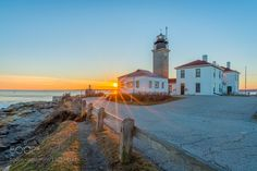 "Lighthouse at sunset Go to http://iBoatCity.com and use code PINTEREST for free shipping on your first order! (Lower 48 USA Only). Sign up for our email newsletter to get your free guide: ""Boat Buyer's Guide for Beginners."""