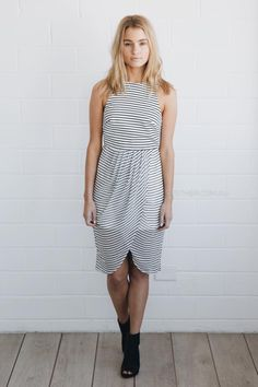 finders keepers stranger in paradise dress - stripe |