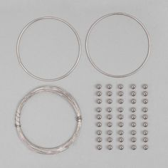This Silver Plated Copper Beaded Bangle Kit has a great variety of finding suitable for all your creating needs. This kit comes with a set of instructions to help you create a beautiful beaded bangle.