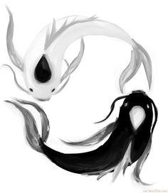 Cool Koi Fish Yin Yang Tattoo Art ❥❥❥ http://bestpickr.com/yin-yang-tattoos