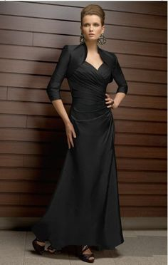 2015 Straps Zipper Ruched Black Sleeveless Satin Floor Length Mother of the Bride Dresses Morri Lee MBD70318