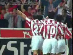 Back in 1997 Olympiakos scored one of the best goals in the last 20 years of Champions League!Stelios Giannakopoulos a great player who played for Olympiakos 7 years scored a great one againgst Porto FC and Olympiakos won and see yourselves what I mean! Happy Moments, Champions League, 20 Years, Give It To Me, Goals, Baseball Cards, Watch, Youtube, Porto