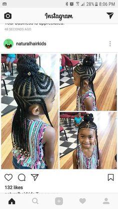 Meisjekapsels voor haar van gemiddelde lengte  #gemiddelde #lengte #meisjekapsels Boy Braids Hairstyles, Black Girl Short Hairstyles, Easy Hairstyles For Kids, Little Girl Hairstyles, Cute Hairstyles, Quick Braided Hairstyles, School Hairstyles, Protective Hairstyles, Natural Hairstyles