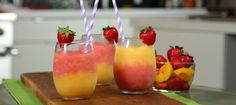3-Ingredient Strawberry Peach Wine Slushies are Perfect for Summer