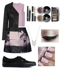 """""""Elegant Edge ••"""" by fa-fa-fashionn ❤ liked on Polyvore featuring Mary Katrantzou, Valentino, Topshop, American Eagle Outfitters, Vans, Smashbox and Chanel"""