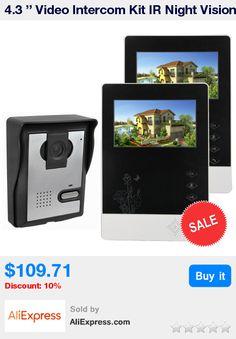 4.3 '' Video Intercom Kit IR Night Vision TICDIO Video Door Phone Camera Monitor for Villa Home Security Doorbell F4359A * Pub Date: 21:05 Jul 10 2017