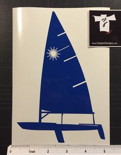 Sailboat Laser Decal Dingy Sunfish Pico Banshee Sail boat sticker FREE ...