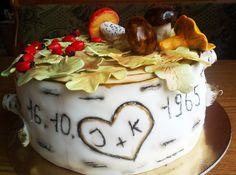 Mushroom cake for golden wedding anniversary