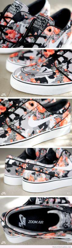 Awesome Nike SB Stefan Janoski  Floral Mandarin Camo
