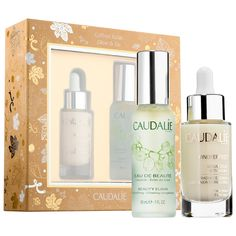 Shop Caudalie's Vinoperfect Glow & Go Set at Sephora. This two-piece set features Caudalie's radiance-boosting Vinoperfect Radiance Serum and Beauty Elixir.