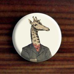 Pinback Button - Giraffe