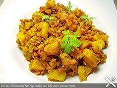 Rote - Linsen - Curry, ein sehr schönes Rezept aus der Kategorie Hülsenfrüchte. Bewertungen: 90. Durchschnitt: Ø 4,4.