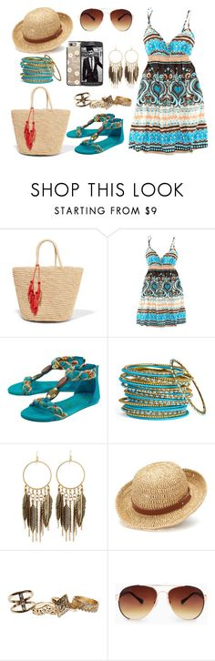 """""""Summer Set"""" by sabrina-emo ❤ liked on Polyvore featuring Sensi Studio, H&M, Blowfish, Cara Accessories, Panacea, Chaps, Wet Seal, MANGO, Casetify and Samsung"""