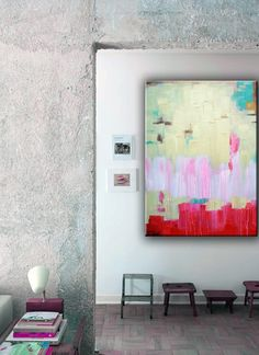 250ff hand painted canvas art for Interiors Addict readers