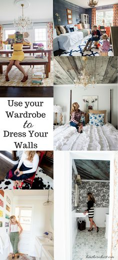 Need Ideas to Decorate your Home?  Check out YOUR WARDROBE!  GREAT IDEAS!
