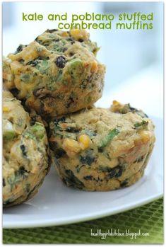 Kale and Poblano Stuffins (Vegan Stuffing Muffins)