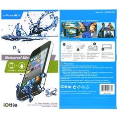 iOttie Waterproof Skin Case Cover Pouch for iPhone 4S, 4 Multi Purpose Protective Skin for Underwater Activity, Fishing, Ski, Snowboarding, Sand-proof, Dustproof, Bath Tub @Madelyn Skinner @Christy Metzler
