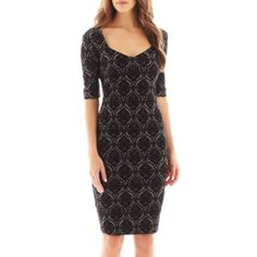 Bisou Bisou® Jacquard Print Dress  found at @JCPenney