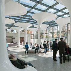 New entrance foyer and shop for the TMW Technical Museum Vienna by Querkraft Architekten