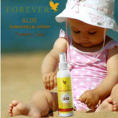 Aloe Sunscreen Spray SPF30 Protecting your baby's skin from the damaging effects of the sun has never been easier. Let the power of our new Aloe Sunscreen Spray with SPF 30, plus the added benefits of its very water resistant formula and the convenience of its spray application, do the work for you! Order online now! Worldwide delivery. Visit http://life140.de    #aloevera #foreverliving #summerskin #summer #sun #summerholidays #beach #sunscreen #sunscreenfor