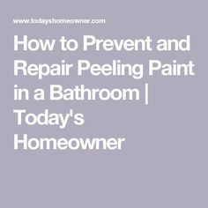 Peeling paint is a common problem in bathrooms. Here's what you can do to keep bathroom paint from peeling, and how to repair it if it does. Kitchen Cabinets Repair, Vintage Bathroom Vanities, Bathroom Repair, Garden Gazebo, Peeling Paint, Domestic Goddess, Home Repairs, Bathroom Flooring, Home Remodeling