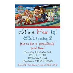 Paw Patrol Birthday Party Digital Invitation - OPTION TWO - Boy or Girl DIY - Print at Home
