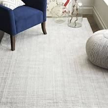 West Elm Handloomed Strie Shine Rug, 8'x10', Silver - Gray - Area Rugs - Throw Rugs - Floor Mats