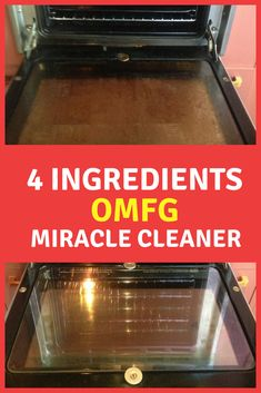 4 Ingredients to make the OMFG Miracle Sray. Clean your oven easily with this natural cleaner. zum Großeltern-Valentinstag OMFG Miracle Spray - Clean Home Challenge Deep Cleaning Tips, House Cleaning Tips, Cleaning Solutions, Spring Cleaning, Floor Cleaning, Mattress Cleaning, Miracle Cleaner, Clean Baking Pans, Safe Cleaning Products