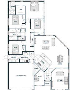 your series stonewood statics Renwick 222 Narrow House Plans, Sims House Plans, Dream House Plans, House Floor Plans, 4 Bedroom House Plans, Family House Plans, House Plans Australia, Warehouse Home, Beautiful House Plans