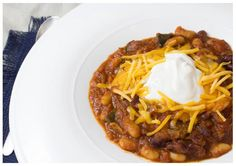 Spicy Two-Bean Poblano Chili