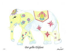Der gelbe Elefant / The yellow elephant CHF 80,00 28 x 35 cm (18 x 24 cm without passepartout) www.alexadenauer.com
