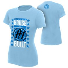 WWE Authentic Apparel - The Official Shirt of the WWE Superstars Classic Fit cotton Screen printed in the USA Wwe Shirts, Aj Styles, Wwe Superstars, Cotton, T Shirt, Wrestling, Clothes, Printed, Classic