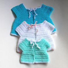 Premature Baby Crochet Sleeveless Baby Jacket by marianna mel