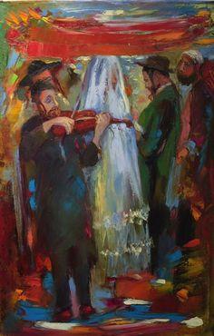 Anna Zarnitsky, Houppa 35 x 24 - Oil on Canvas