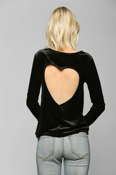 Pins And Needles Velvet Heart Back Top