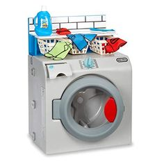 Little Tikes First Washer Dryer - Realistic Pretend Play Appliance for Kids with 11 Laundry Accessories is a toy our 6 year old girl loves to play with. These are super popular toys!