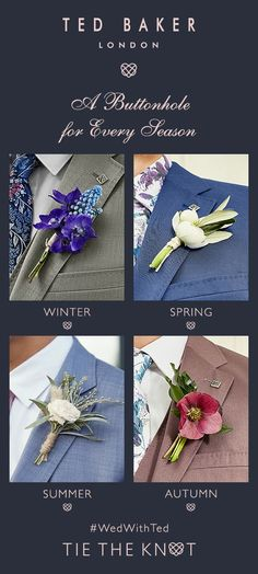 WEAR WITH FLAIR: Get inspired by Ted's seasonal boutonnières Bindi, Winter Springs, Tie The Knots, Bridal Boutique, Ted, Groom, Inspired, Wedding, Tying The Knots