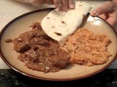 Carne Guisada ~ Very similar to mine, but I don't use lard and I use a large can of tomatoes, rather than the fresh ones. Mexican Dishes, Mexican Food Recipes, Crockpot Recipes, Cooking Recipes, Mexican Meals, Mexican Cooking, Yummy Recipes, Spanish Recipes, Cooking Bacon