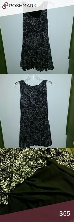 💄$25 TodayONLY + FREE necklace💄Gorgeous dress! Worn once. I still have the tag. Petite Med. 100 % Nylon. It's very cute, just not on my figure/curves/height..lol  It comes with black lining, so, it's definitely not see through. Comes about 2 or 3 inches below knee on me (5'4).  Machine wash cold, gentle. To make it casual, you can wear it as is, with platforms, sandals or flats. To dress it up for office or dinner, wear black panty hose, black shoes with a black blazer & a simple necklace…
