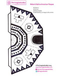 make a teepee free printable